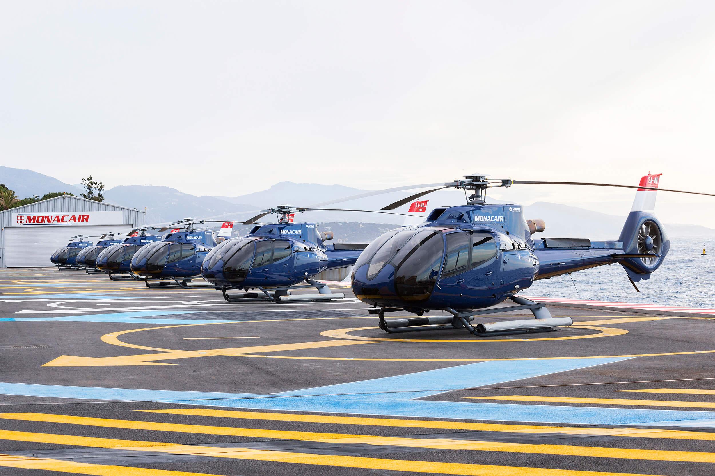 Acquisition et location de 6 Airbus H130 au profit de Monacair Sam
